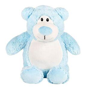 TeddyPost Nalle med namn - Stor Blå Cubby, 40 cm