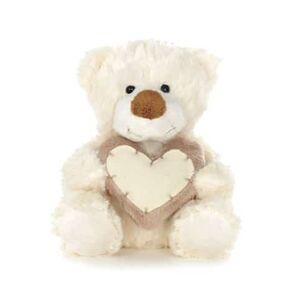 Teddykompaniet Brun & Vit nalle med hjärta, Teddykompaniet (Färg: Vit)