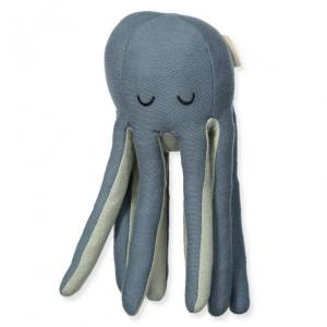 Fabelab Rattle Soft - Octopus One Size, Blue Spruce / Beachgrass