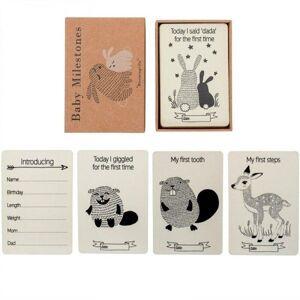 Bloomingville Milestone cards, Milepler, Natur, Papir