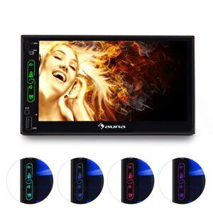 "Auna Dubbel-DIN-moniceiver 17 cm (7"") touchscreen display Bluetooth USB microSD"