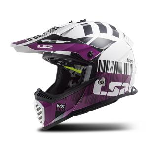 LS2 Crossikypärä LS2 MX437 Fast Evo Xcode Valko-Violetti