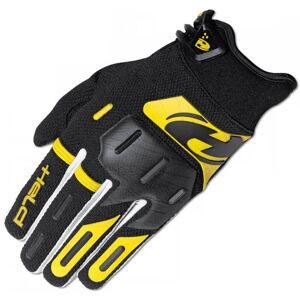 Held Hardtack Motocross käsineet  - Musta Keltainen - Size: XS