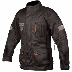 Booster Candid-Y moottoripyörä lapset tekstiili takki  - Musta - Size: 3XL 58 60