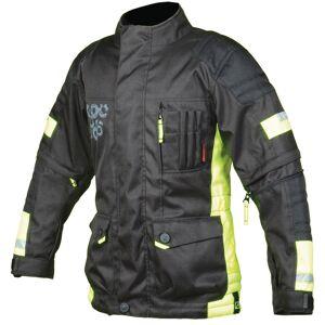 Booster Candid-Y moottoripyörä lapset tekstiili takki  - Musta Keltainen - Size: S 152