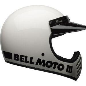 Bell Moto-3 Classic Motocross-kypäräValkoinen