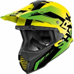 Shark Varial Anger Motocross Helmet Motocross-kypäräVihreä Keltainen