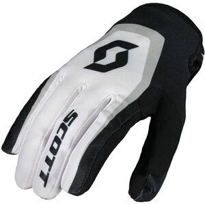 Scott 350 Dirt Motocross käsineet  - Musta Valkoinen - Size: 2XL