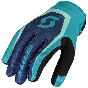 Scott 350 Dirt Motocross käsineet  - Sininen - Size: L
