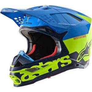 Alpinestars Supertech S-M8 Radium Motocross kypäräSininen Keltainen