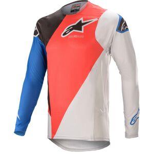 Alpinestars Supertech Blaze Motocross Jersey  - Valkoinen Punainen Sininen - Size: S
