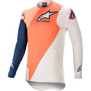 Alpinestars Supertech Blaze Motocross Jersey  - Valkoinen Sininen Oranssi - Size: S