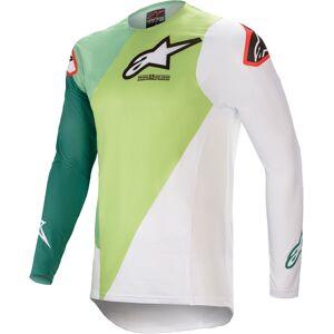 Alpinestars Supertech Blaze Motocross Jersey  - Valkoinen Vihreä - Size: 2XL