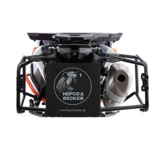 Becker HEPCO & BECKER Sivukotelon kantaja kiinteä musta, 890 Adventure (2021-)Musta