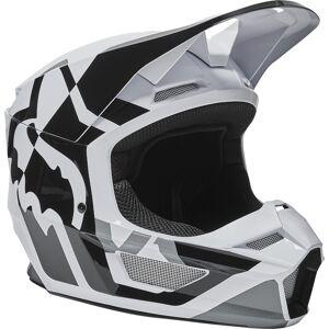 Fox V1 Lux Motocross-kypäräMusta Valkoinen