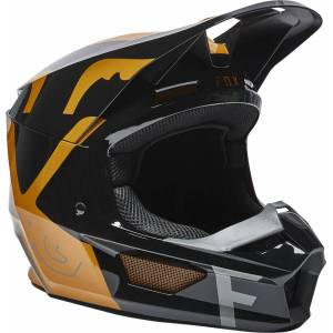 Fox V1 Skew Motocross-kypäräMusta Kulta