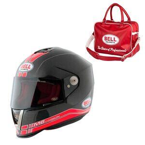 Bell Motorcykelhjälm M6 Carbon Race, black/red, Bell
