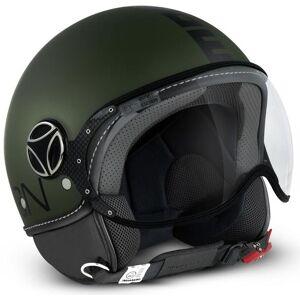 MOMO FGTR Classic Jet hjelm militære grønt Matt / svart Svart Grønn L