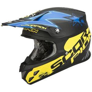 Scorpion VX-20 Air Magnus Krysse hjelm Svart Blå XS