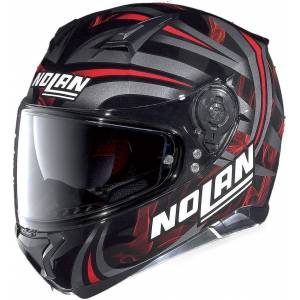 Nolan N87 Ledlight N-Com Full Face Svart Rød XS