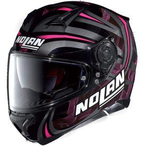 Nolan N87 Ledlight N-Com Full Face Svart Rosa 2XS