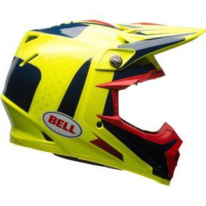 Bell Moto-9 Flex Vice Motocross hjelm Svart Gul XL