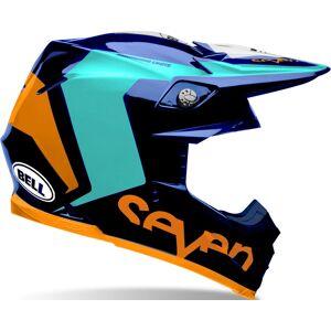 Bell Moto-9 Flex Seven Rogue Motocross hjelm Blå Oransje L