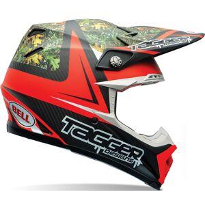Bell Moto-9 Flex Tagger Rekluse Motocross hjelm Svart Rød XS 54 55