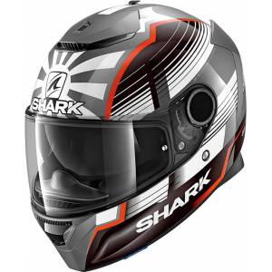Shark Spartan Replica Zarco Malaysian GP Hjelm Sølv M