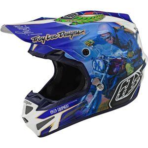 Troy Lee Designs SE4 Malcolm Smith MIPS Motocross hjelm Blå 2XL