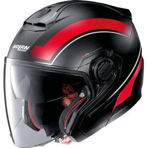 Nolan N40-5 Resolute N-Com Jet hjelm Svart Rød M