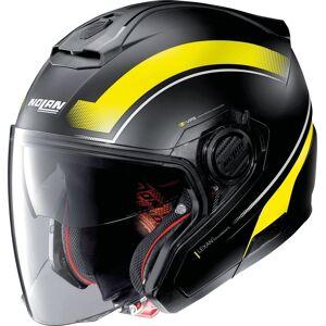 Nolan N40-5 Resolute N-Com Jet hjelm Svart Gul 2XL