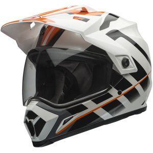 Bell MX-9 Adventure Motocross hjelm Hvit Oransje S