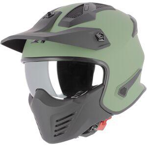 Astone Elektron Jet hjelm Grønn XS