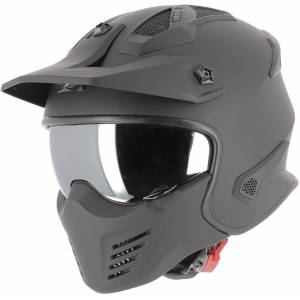 Astone Elektron Jet hjelm Svart L