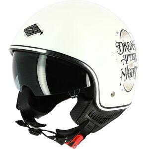 Astone New Trade Jet hjelm Hvit M