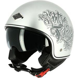 Astone Dirty Thrills Jet hjelm Sølv XS