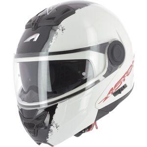 Astone RT 800 Stripes Hjelm Svart Hvit XS