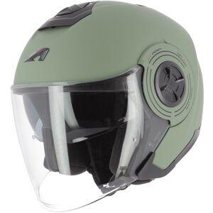 Astone Aviator Jet hjelm Grønn L
