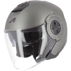 Astone Aviator Jet hjelm Svart Grå XS