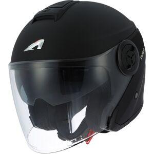 Astone DJ10-2 Monocolor Jet hjelm Svart S