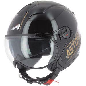 Astone Minijet Sport Cooper Jet hjelm Svart Gull L