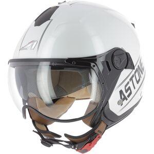Astone Minijet Sport Cooper Jet hjelm Svart Hvit M