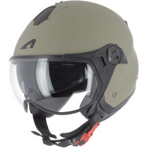 Astone Minijet Sport Monocolor Jet hjelm Grønn XS