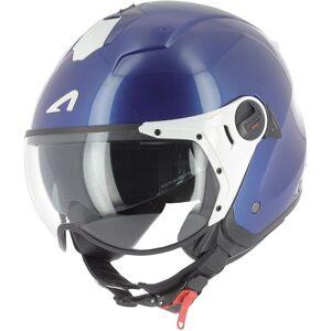 Astone Minijet Sport Monocolor Jet hjelm Hvit Blå Sølv 2XL