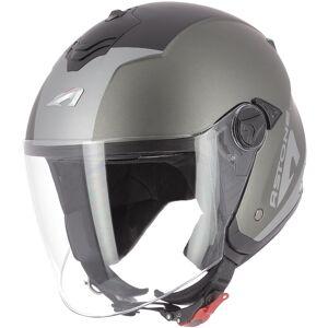 Astone Minijets Wipe Jet hjelm Svart Grå XS