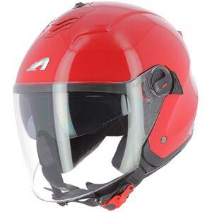 Astone Minijets Monocolor Jet hjelm Rød XS