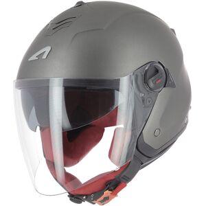 Astone Minijets Monocolor Jet hjelm Svart Grå XS