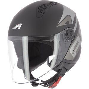 Astone Minijet Link Jet hjelm Svart M