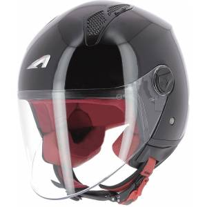 Astone Minijet Monocolor Jet hjelm Svart S